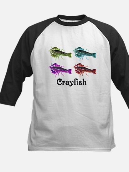 Colorful Crayfish Kids Baseball Jersey