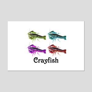 Colorful Crayfish Mini Poster Print