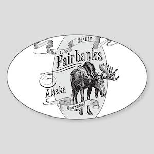 Fairbanks Vintage Moose Sticker (Oval)