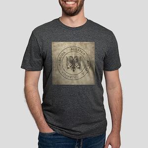Vintage Albania Mens Tri-blend T-Shirt