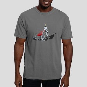 Checkered Flag and Wheel Mens Comfort Colors Shirt