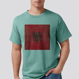 Vintage Albania Flag Mens Comfort Colors Shirt