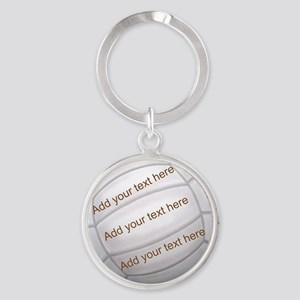 Beach Volleyball Round Keychain