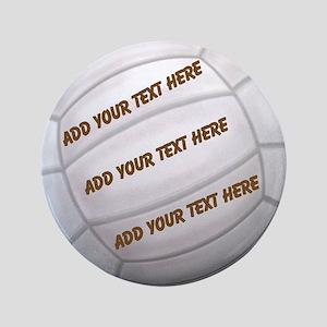 "Beach Volleyball 3.5"" Button"