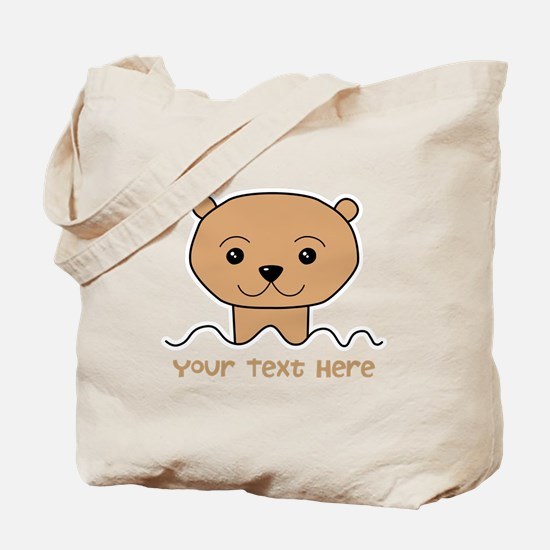 Otter with Text. Tote Bag