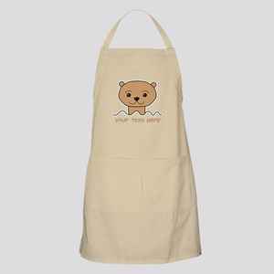 Otter with Text. Apron