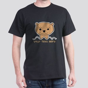 Otter with Text. Dark T-Shirt