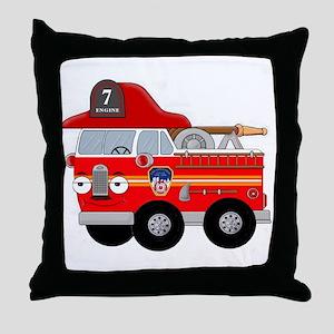 Fire Engine Seven Throw Pillow