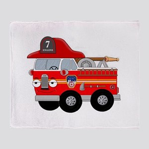 Fire Engine Seven Throw Blanket