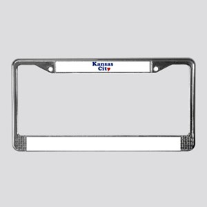 Kansas City with Heart License Plate Frame