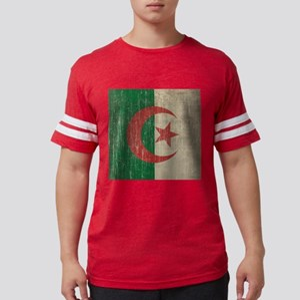Vintage Algeria Flag Mens Football Shirt