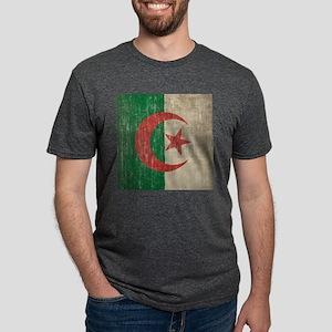 Vintage Algeria Flag Mens Tri-blend T-Shirt