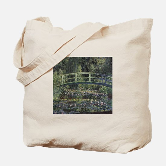 Monet Japanese Bridge Lilies Tote Bag