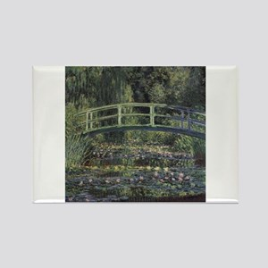 Monet Japanese Bridge Lilies Rectangle Magnet