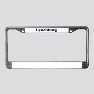 Lynchburg with Heart License Plate Frame