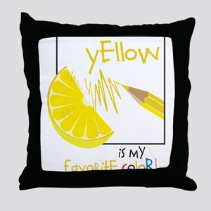 My Favorite Color Throw Pillow