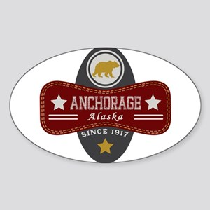 Anchorage Nature Marquis Sticker (Oval)
