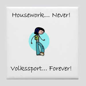 Housework Never Tile Coaster