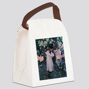 Sargent Carnation Lily Lily Rose Canvas Lunch Bag