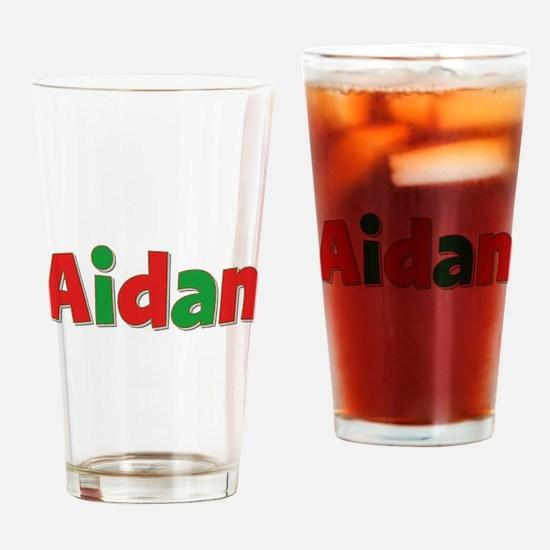 Aidan Christmas Drinking Glass