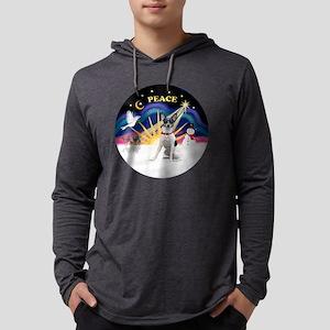 R-XmasSunrise-RatTerrier2 Mens Hooded Shirt