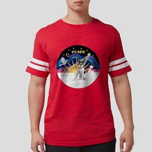 R-XmasSunrise-RatTerrier2 Mens Football Shirt