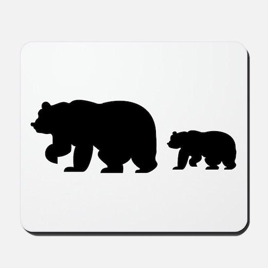 Bear Migration Icon Mousepad