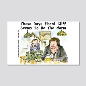 Fiscal Cliff Is The Norm 20x12 Wall Decal
