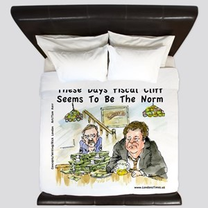 Fiscal Cliff Is The Norm King Duvet