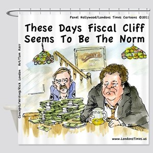 Fiscal Cliff Is The Norm Shower Curtain