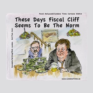 Fiscal Cliff Is The Norm Throw Blanket