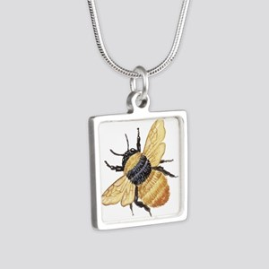 bumblebee Silver Square Necklace