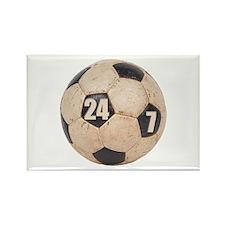 24/7 Soccer Rectangle Magnet