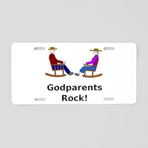 Godparents Rock Aluminum License Plate