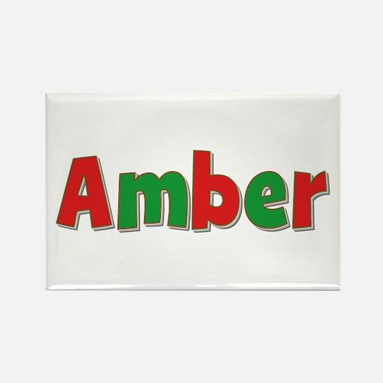 Amber Christmas Rectangle Magnet