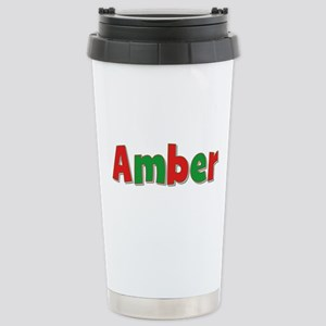 Amber Christmas Stainless Steel Travel Mug