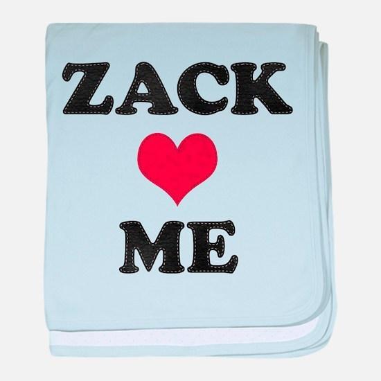 Zack Loves Me baby blanket