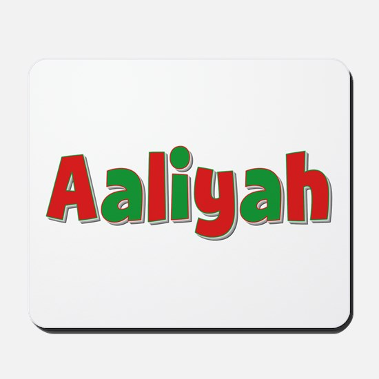 Aaliyah Christmas Mousepad