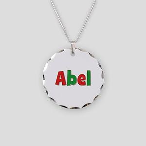 Abel Christmas Necklace Circle Charm