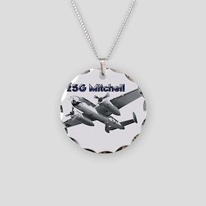 B-25G Mitchell Necklace Circle Charm