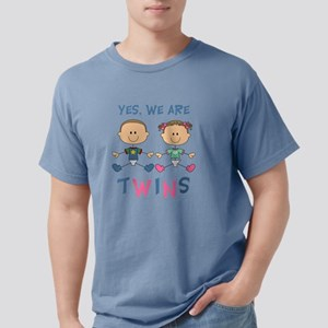 YES WE ARE TWINS Mens Comfort Colors Shirt