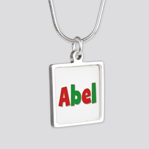 Abel Christmas Silver Square Necklace