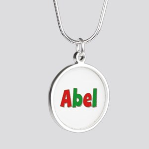 Abel Christmas Silver Round Necklace