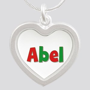 Abel Christmas Silver Heart Necklace