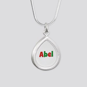 Abel Christmas Silver Teardrop Necklace