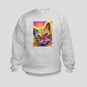 Psychadelic Cat Kids Sweatshirt