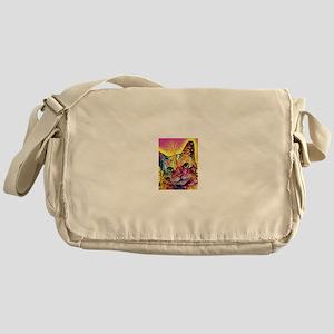 Psychadelic Cat Messenger Bag