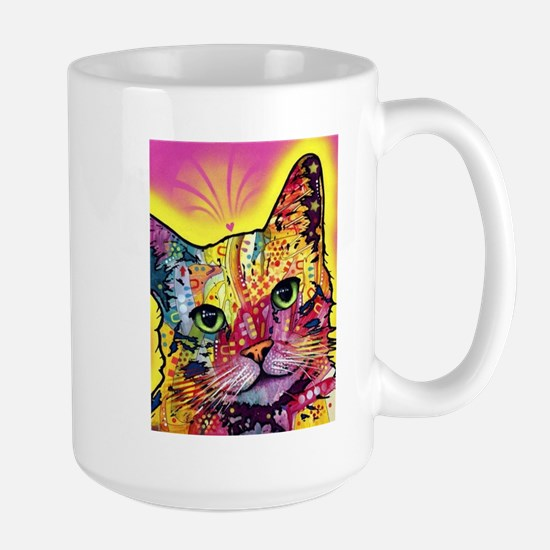 Psychadelic Cat Large Mug