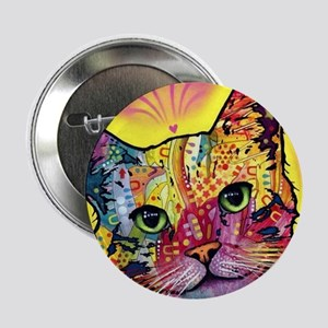 "Psychadelic Cat 2.25"" Button"