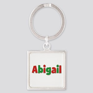 Abigail Christmas Square Keychain